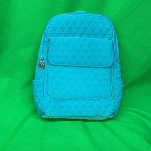 Vera Bradley Blue Quilted Medium Backpack